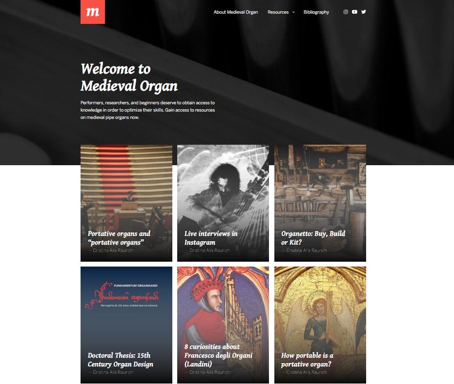 Medieval Organ Website