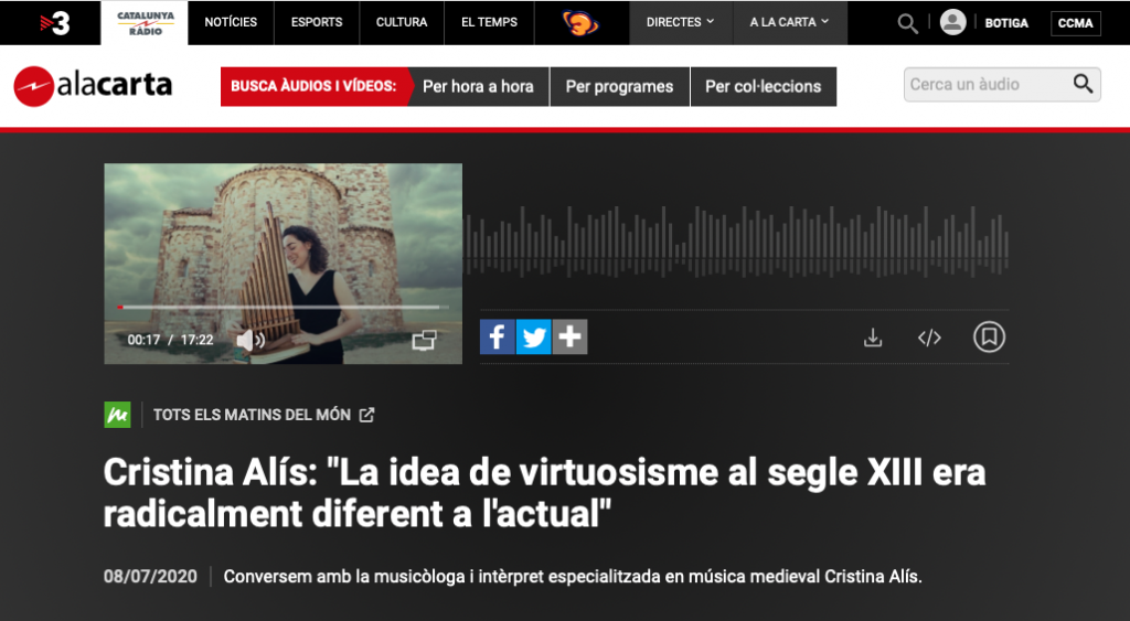 Entrevista Catalunya Música Cristina Alís Raurich